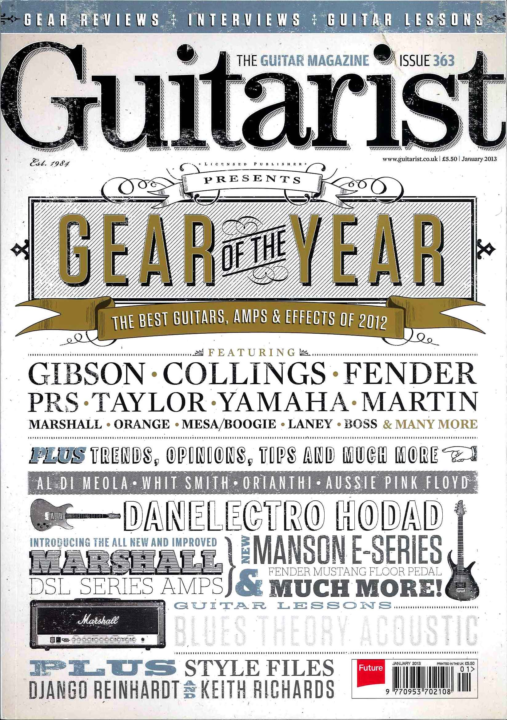 Guitarist Magazine_January 2013_Robert Cray Album of The Year_1