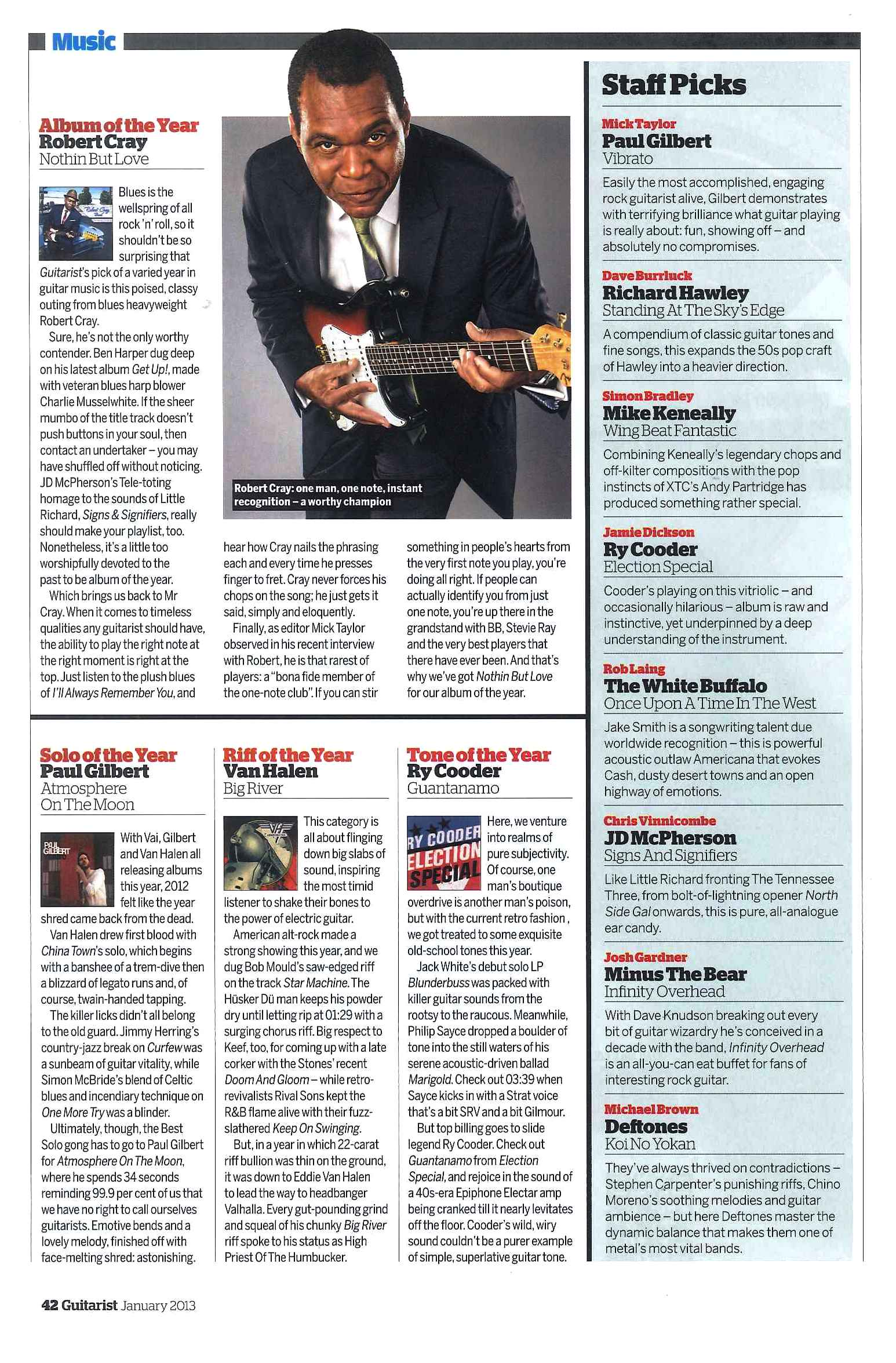 Guitarist Magazine_January 2013_Robert Cray Album of The Year_2